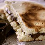 torta al testo con la nutella